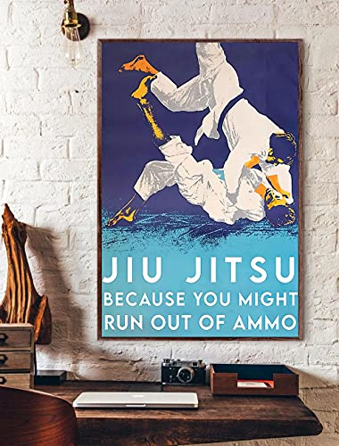 Jiu-Jitsu - Poster, Fighting Martial Arts Poster, Jiu Jitsu Poster, Jiu Jitsu Players Poster, Jiu-Jitsu Wall Art, BJJ Wall Art - Unframed Wall Art- 18x24 inches Poster
