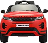 TOBBI 12V Licensed Land Rover Kids Ride On Car with Parental Remote Control Electric Vehicle for Boys Girls with Bluetooth Radio MP3 in Red