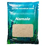 LANDEN Namale Aquarium Sand 4.4 lbs(2kg), Super Natural for Aquarium Landscaping, Cosmetic Sand for Plant Tank, Fine Grain Natural Color River Sand for Freshwater or Blackwater Biotope Tank