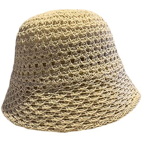 SIMEISM Sombreros de sol para mujer Sombreros de paja Chino Panamá Protección...