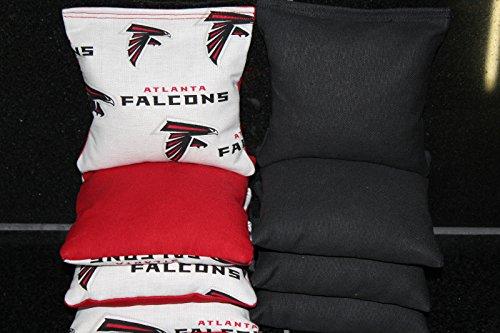 BackYardGamesUSA Atlanta Falcons 8 Cornhole Bean Bag TOSS BAGGO Quality Handmade!