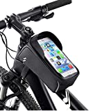 <span class='highlight'><span class='highlight'>Achort</span></span> Bike Frame Bag, Waterproof Bicycle Bag Large Capacity Storage for Mobile Phones up to 6.0 inches with Headphone Hole, Touch Screen, Sun Visor and Night Reflective Strip