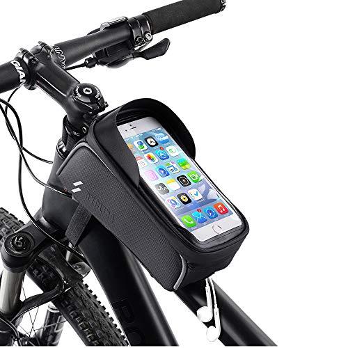 Achort Borsa Telaio Bici, Borsa Impermeabile Touch Screen Bicicletta Manubrio Anteriore Borsa Bici...