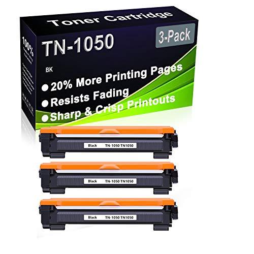 Paquete de 3 cartuchos de impresora compatibles de alto rendimiento TN-1050 TN1050 para impresoras Brother HL-1112 HL-1110 HL-1210W HL-1212W DCP-1610W DCP-1512 DCP-1612W DCP-1510