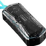 Tany Outdoor Bluetooth Lautsprecher IPX6 Wasserfest Staubdicht Anti-Fall Powerbank NFC-Touch-Verbindungsfunktion Tri-Bass-Effekten Sprachassistent und Mikrofon 20h Spielzeit