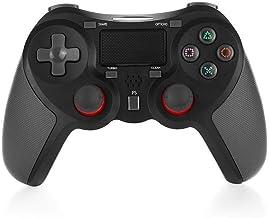 Mando Inalámbrico Gamepad Wireless Controlador Inalámbrico Compatible con Playstation 4 Dualshock 4 con Los Botones De Activación Playstation 4 y Windows (negro)