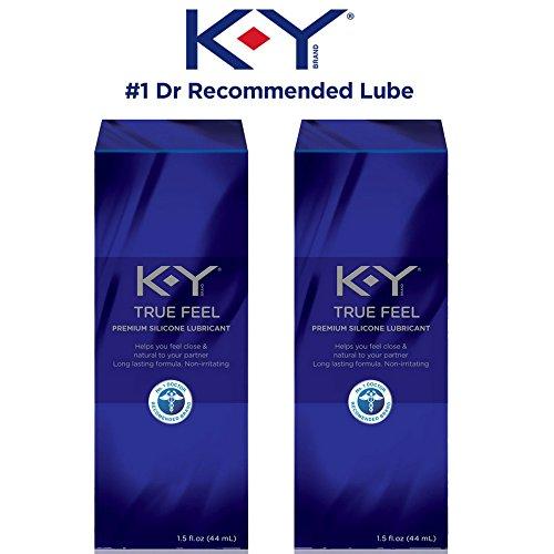 K-Y True Feel Silicone Lubricant, 1.5 oz (Pack of 2)