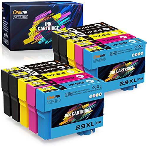 ONEINK Reemplazo de Cartucho de Tinta Compatible para Epson 29 29XL para Expression Home xp-235 xp-245 xp-342 xp-442 xp-452 xp-352 xp-332 xp-345 xp-247 xp-432 xp-445 xp-455 (4B/2C/2M/2Y, 10PC)