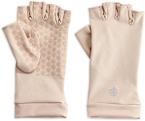 Coolibar Damen UV-Handschuhe fingerlos M beige