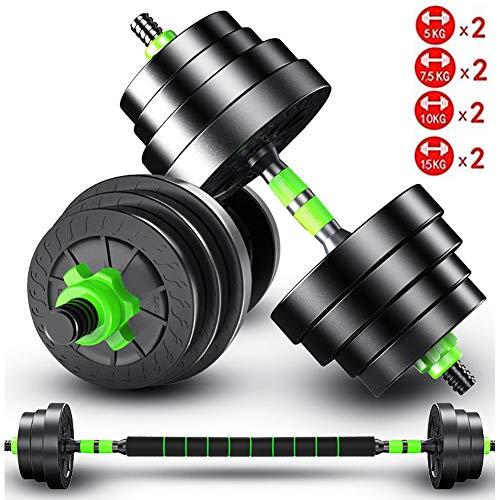 JESU verstellbare Hanteln, Hanteln mit Verbindungsstange, für Fitnessstudio, Workout, Heimtraining, geeignet für Männer und Frauen, Ein Paar, 10 kg