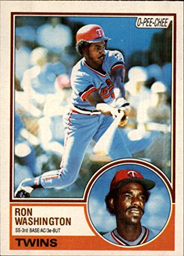 1983 O-Pee-Chee #27 Ron Washington Baseball Card *