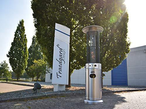 Traedgard Heizstrahler California Edelstahl mit Glasröhre, Höhe 185 cm inkl. Rollenset, Schutzhülle und Gastroset - 4