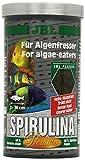 JBL Spirulina 30002, Premium Alleinfutter für algenfressende Aquarienfische, Flocken, 1 l