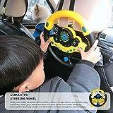 Monggood Bambini Copilota Simulato Volante Racing Driver Giocattolo Pedagogico Suono Giocattoli