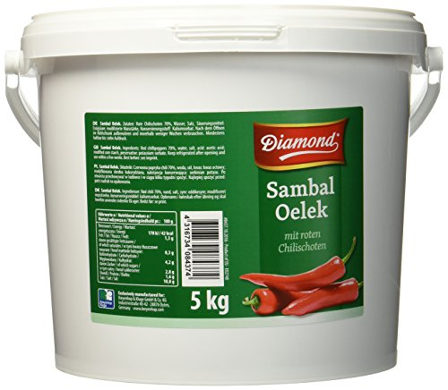 Diamond Sambal Oelek, sehr scharf, 1er Pack (1 x 5 kg Packung)