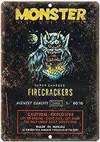 Monster Super Charged Firecrackers ティンサイン ポスター ン サイン プレート ブリキ看板 ホーム バーために