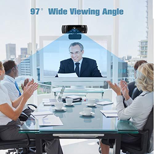 eztechny Webcam PC 1080P Full HD con Micrófono Estéreo, Webcam USB 2.0 Streaming Cámara Web para Video Chat y Grabación con Clip Giratorio, Compatible con Windows, Mac & Android miniatura