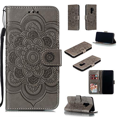 nincyee Portemonnee Hoesje voor Samsung Galaxy S9+, Mandala Patroon Pu Lederen Flip Hoesjes voor Samsung Galaxy S9 Plus