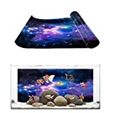 Aquarium Background Outer Space Galaxy Starry Sky Fish Tank Wallpaper Easy to Apply and Remove PVC Sticker Pictures Poster Background Decoration 24.4' x 60.8'