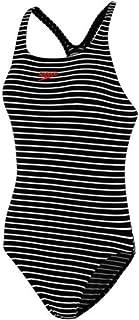 Speedo Women's Essential Endurance+ Medalist Swimming Costume for Women Black/White Size 40