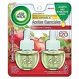 Air Wick® 2 Repuestos de Aromatizante de Ambiente Continuo para Aparato Difusor eléctrico, Aroma Manzana Canela, 21 ml c/u