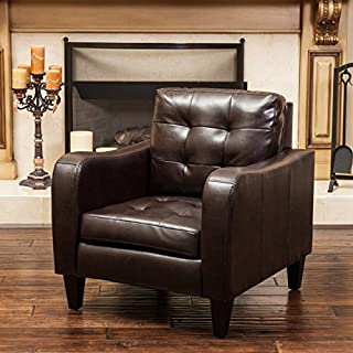 Christopher Knight Home 295234 Bowdon Brown Leather Club Chair