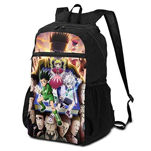 Mochila de Viaje Liviana para Adultos, Anime japonés Hun-TER x Hun-TER Characters Poster Bookbag, Design Work Bag para Laptop Ciclismo Viajes,38x24x17cm