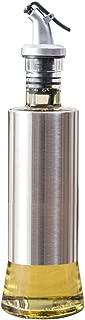 W·Z 11oz Olive Oil Dispenser, Stainless Steel Protecting 320ml Drip-Free Vinegar and Soy Sauce bottle Set for Kitchen (KA1009)
