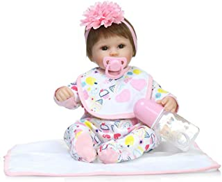 "Reborn Baby Doll, 100% Handmade Soft Silicone 15.7"" /40cm Lifelike Newborn Doll Girl for Children-RB140"