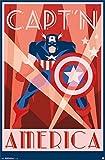 Poster von Captain America im Art-Déco-Stil, 55,9x