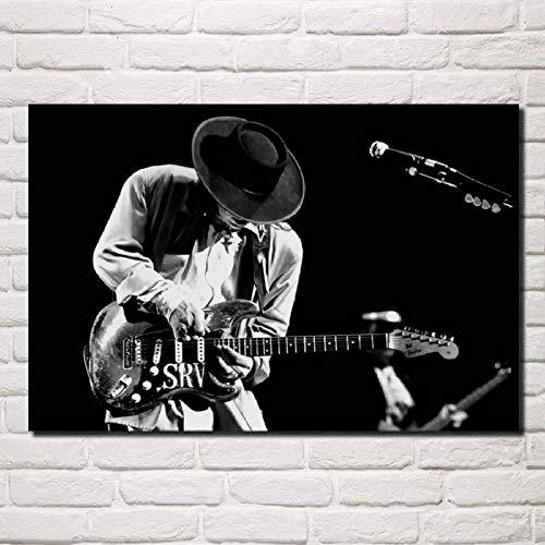 WSHIYI Pintura de la Lona Arte de la Pared póster Stevie Ray...