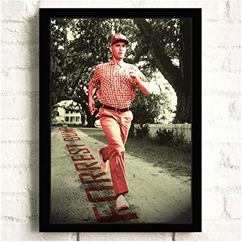 Forrest Gump Película clásica HD n Star Arte de pared Decoración para el hogar Pintura en lienzo Arte Decoración nórdica Cafe Bar Cartel de la habitación del hotel (60X80Cm) -24x32 Pulgadas Sin marco