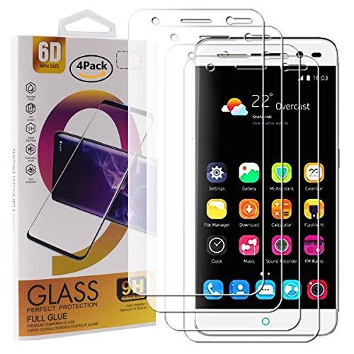 Guran 4 Paquete Cristal Templado Protector de Pantalla para ZTE Blade V7 Lite Smartphone 9H Dureza Anti-Ara?azos Alta Definicion Transparente Película
