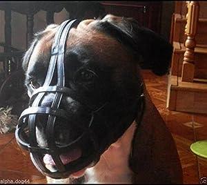 Muselière pour chien en cuir pour Boxer et similaires