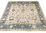10X10 Square Oushak Area Rug Hand-Knotted Wool Oriental Carpet