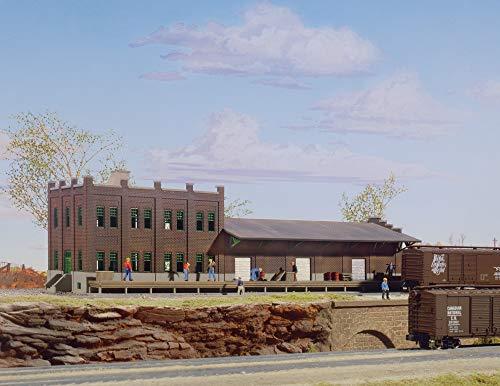 "Walthers Cornerstone N Scale Model Water Street Freight Terminal Kit, 11 x 3-1/2"" 27.5 x 8.7cm"