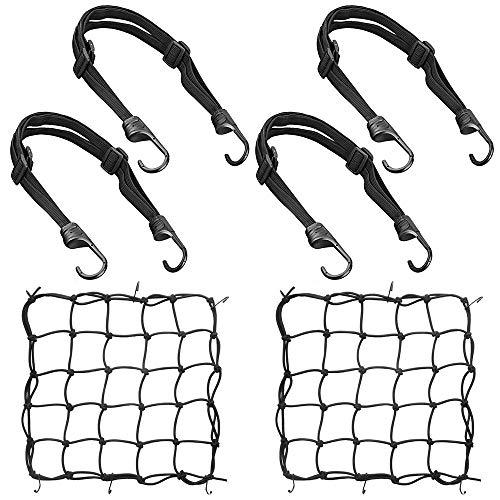 KKTICK Correa elástica para portabicicletas, cuerdas elásticas ajustables con ganchos, correas elásticas...