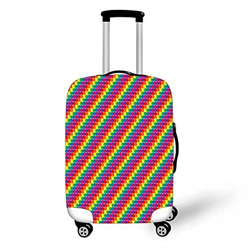 Surwin 3D Elastica Proteggi Valigia Suitcase Luggage Cover Coperchio di Protezione Antipolvere Lavabile Copertura Viaggio Proteggi Bagagli Coprire (motivo diagonale,L (26-28 pollici))