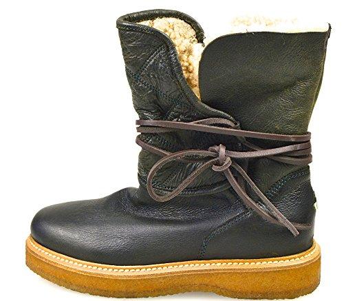 Moncler Woman Ankle Boot Dark Code 22 09A 0047430 07102 36 Testa DI Moro - Dark Brown