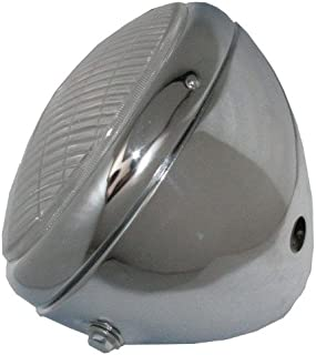 Enfield County Chrome Plated Lucas Type Headlight Headlamp Triumph Bonneville Thruxton