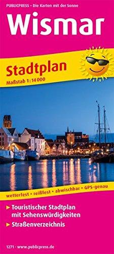 Wismar: Touristischer Stadtplan mit Sehenswürdigkeiten und Straßenverzeichnis. 1:14000 (Stadtplan: SP)