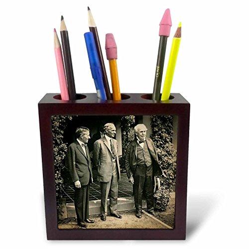 3dRose ph_246281_1 - Soporte para bolígrafo de punta redonda de 5 pulgadas'Harvey Firestone Henry Ford Thomas Edison President Harding's Funeral'
