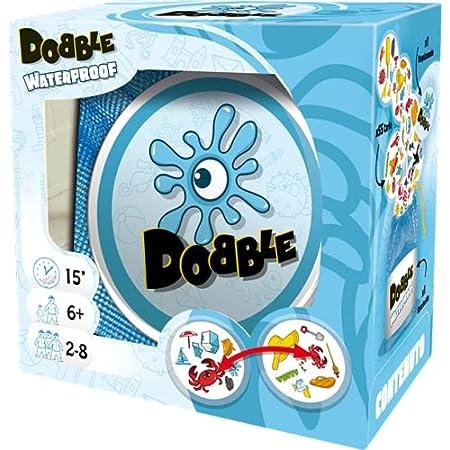 Asmodee Dobble: Waterproof, Gioco di Carte per Tutta la Famiglia, Edizione in Italiano, 8247, Single