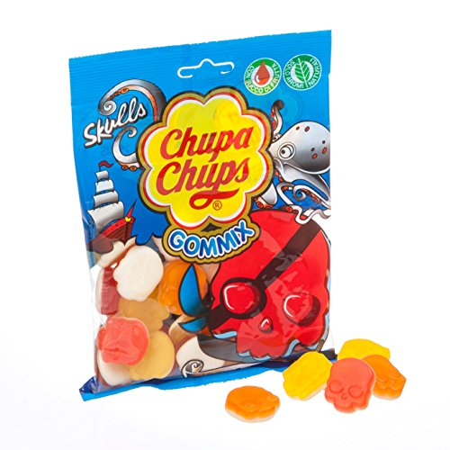 Chupa Chups Gommix Skulls Caramella Gommosa, Frutti Assortiti - 150 gr - [confezione da 18]