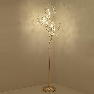 Lampadaires Luminaires intérieur Lampe sur Pied Lampadaire en cristal LED, tige unique, conception de râteau d'arbre, haut...