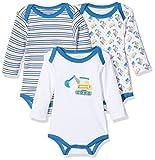 Schnizler Baby-Jungen Langarm, 3er Pack Bagger, Oeko-Tex Standard 100 Body, Blau (original 900), 86 (Herstellergröße: 86/92)