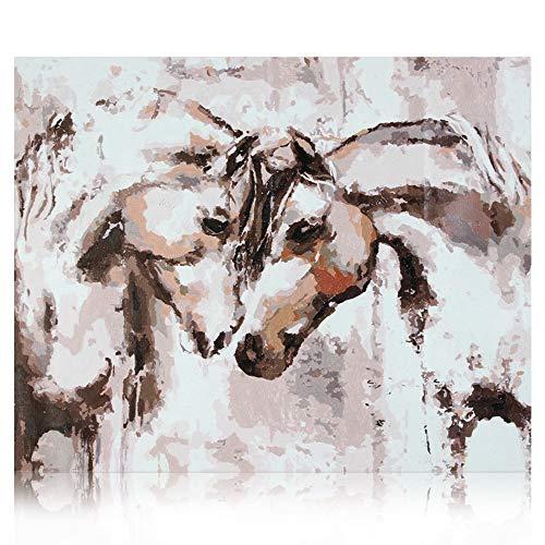 SUMGAR Dipingi con i numeri, cavallo, grigio, per adulti, fai da te, decorazione per soggiorno,...