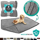 PetAmi WATERPROOF Dog Blanket for Bed, Couch, Sofa | Waterproof Dog Bed Cover for Large Dogs Puppies | Grey...