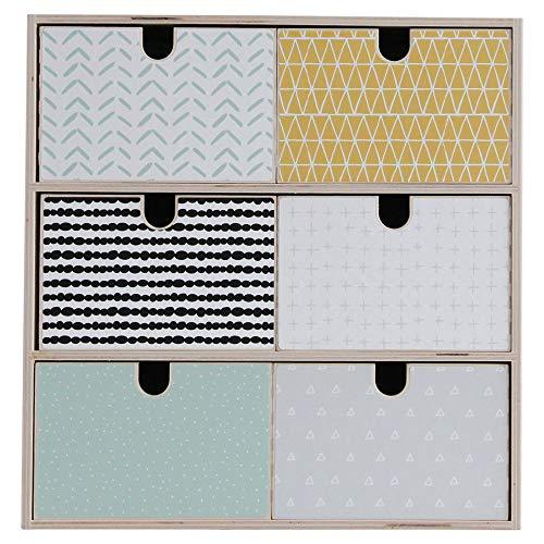 Limmaland Aufkleber passend für Deine IKEA MOPPE Mini-Kommode (Muster bunt) - Mini-Kommode Nicht inklusive