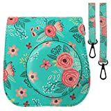 Protective & Portable Case Compatible with fujifilm instax Mini 11/9 / 8/8+ Instant Film Camera with Accessory Pocket and Adjustable Strap - Flower by SAIKA